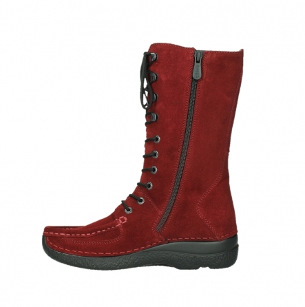 wolky halbhohe stiefel 06210 roll fashion 40540 winter rot geoltem veloursleder_13