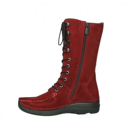 wolky halbhohe stiefel 06210 roll fashion 40540 winter rot geoltem veloursleder_14