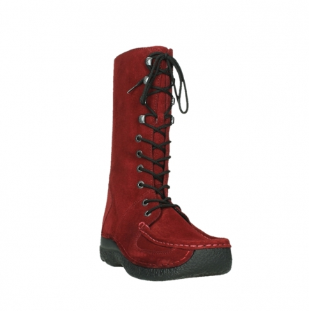 wolky halbhohe stiefel 06210 roll fashion 40540 winter rot geoltem veloursleder_21