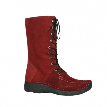 wolky halbhohe stiefel 06210 roll fashion 40540 winter rot geoltem veloursleder_24