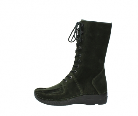 wolky mid calf boots 06210 roll fashion 40730 forest green oiled suede_1