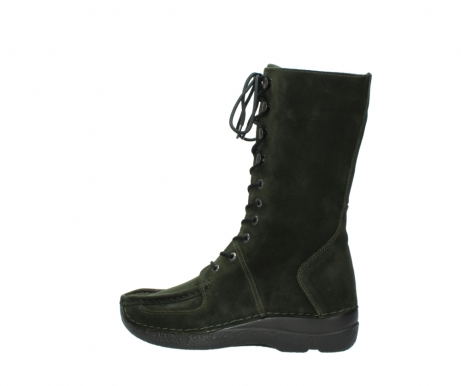 wolky mid calf boots 06210 roll fashion 40730 forest green oiled suede_2