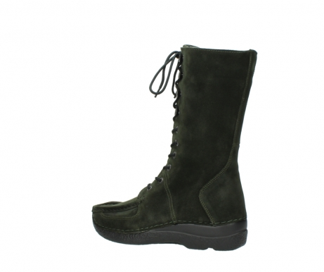wolky mid calf boots 06210 roll fashion 40730 forest green oiled suede_3