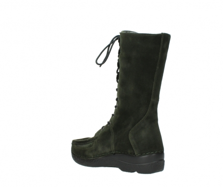 wolky mid calf boots 06210 roll fashion 40730 forest green oiled suede_4