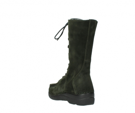 wolky mid calf boots 06210 roll fashion 40730 forest green oiled suede_5