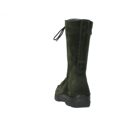wolky mid calf boots 06210 roll fashion 40730 forest green oiled suede_6
