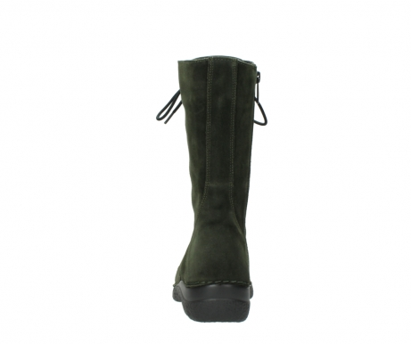 wolky mid calf boots 06210 roll fashion 40730 forest green oiled suede_7