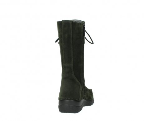 wolky mid calf boots 06210 roll fashion 40730 forest green oiled suede_8