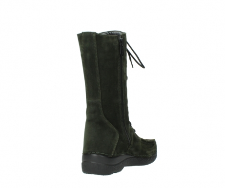 wolky mid calf boots 06210 roll fashion 40730 forest green oiled suede_9