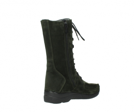wolky mid calf boots 06210 roll fashion 40730 forest green oiled suede_10