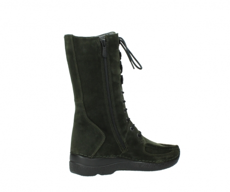 wolky mid calf boots 06210 roll fashion 40730 forest green oiled suede_11