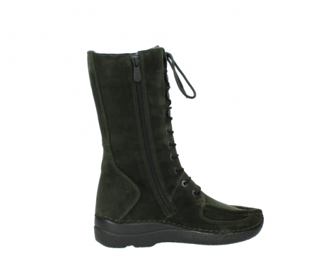wolky mid calf boots 06210 roll fashion 40730 forest green oiled suede_12
