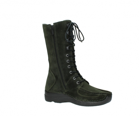wolky mid calf boots 06210 roll fashion 40730 forest green oiled suede_15