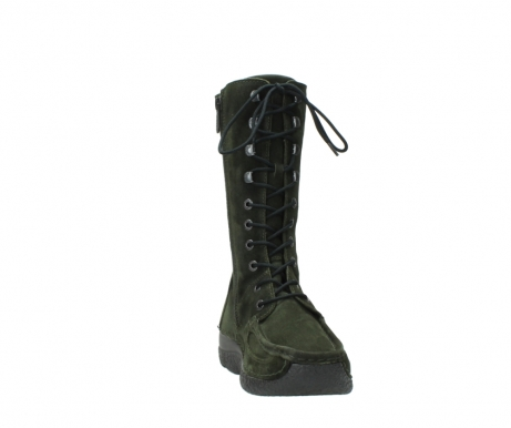 wolky mid calf boots 06210 roll fashion 40730 forest green oiled suede_18