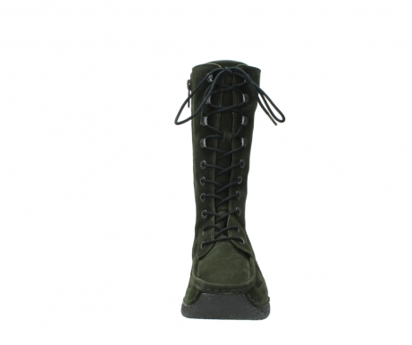 wolky mid calf boots 06210 roll fashion 40730 forest green oiled suede_19
