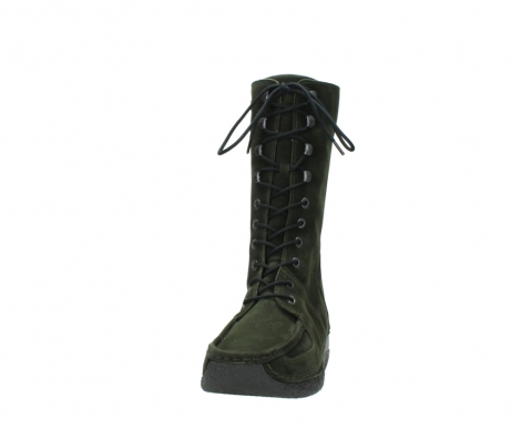 wolky mid calf boots 06210 roll fashion 40730 forest green oiled suede_20