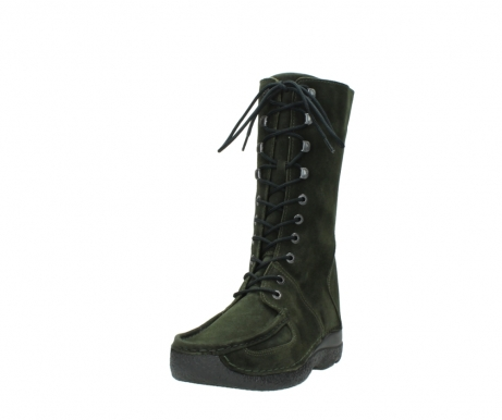 wolky mid calf boots 06210 roll fashion 40730 forest green oiled suede_21