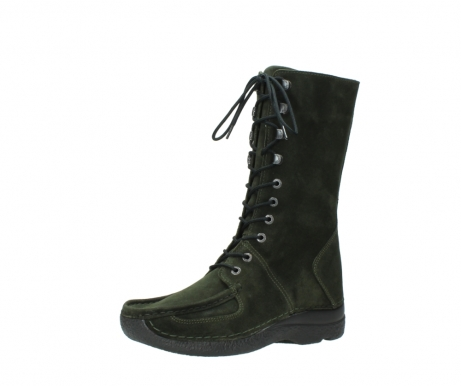 wolky mid calf boots 06210 roll fashion 40730 forest green oiled suede_23