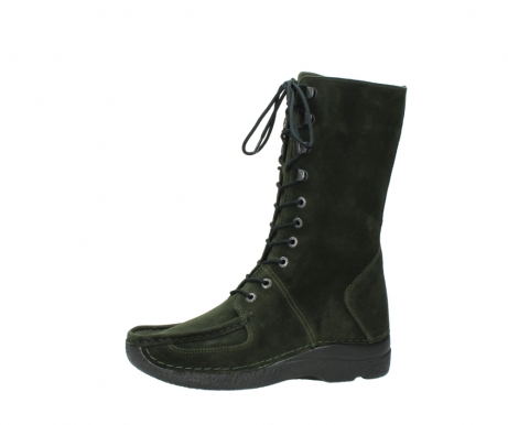 wolky mid calf boots 06210 roll fashion 40730 forest green oiled suede_24