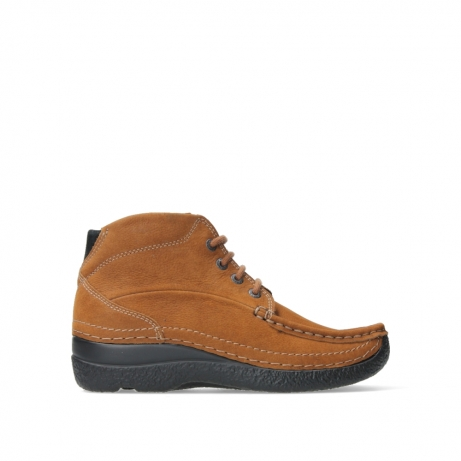 wolky lace up boots 06242 roll shoot 11430 cognac nubuck
