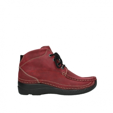 wolky bottines a lacets 06242 roll shoot 11530 cuir bordeaux