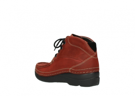 wolky lace up boots 06242 roll shoot 11542 winter red nubuck_4