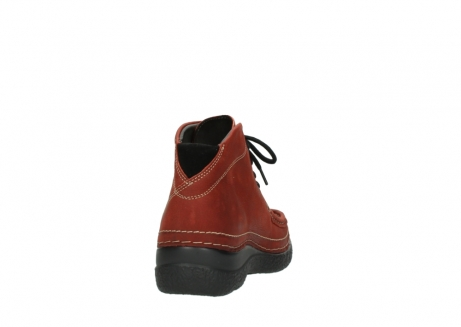 wolky lace up boots 06242 roll shoot 11542 winter red nubuck_8