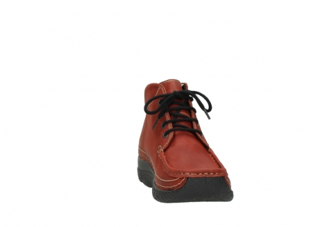 wolky lace up boots 06242 roll shoot 11542 winter red nubuck_18
