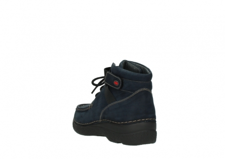 wolky lace up boots 06294 seamy destiny 50800 blue oiled leather_5