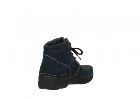 wolky lace up boots 06294 seamy destiny 50800 blue oiled leather_9