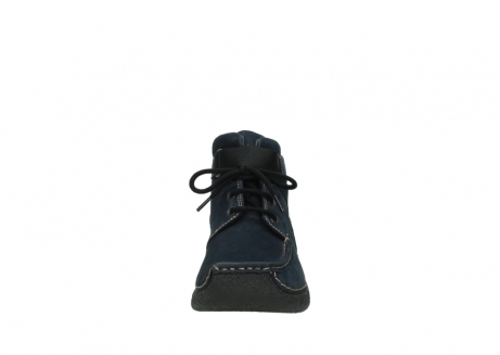 wolky lace up boots 06294 seamy destiny 50800 blue oiled leather_19