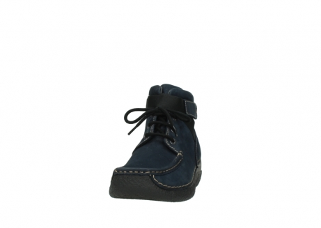 wolky lace up boots 06294 seamy destiny 50800 blue oiled leather_20
