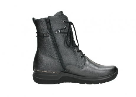 wolky lace up boots 06601 walla walla 81210 antracite metallic leather_13