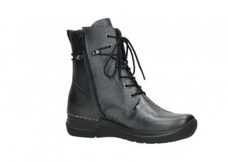 wolky lace up boots 06601 walla walla 81210 antracite metallic leather_15