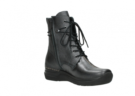wolky lace up boots 06601 walla walla 81210 antracite metallic leather_16