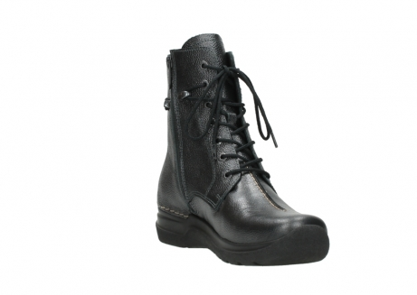 wolky lace up boots 06601 walla walla 81210 antracite metallic leather_17