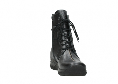 wolky lace up boots 06601 walla walla 81210 antracite metallic leather_18