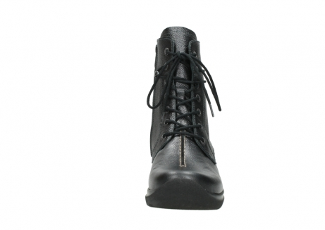 wolky lace up boots 06601 walla walla 81210 antracite metallic leather_19