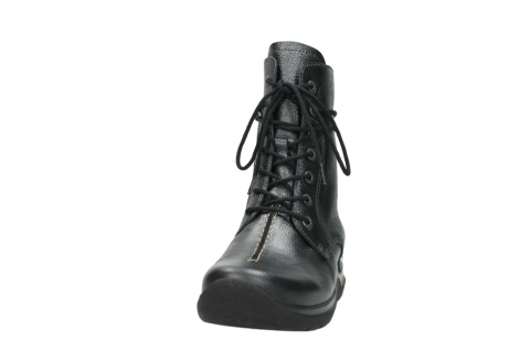 wolky lace up boots 06601 walla walla 81210 antracite metallic leather_20