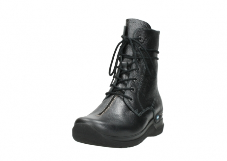 wolky lace up boots 06601 walla walla 81210 antracite metallic leather_21