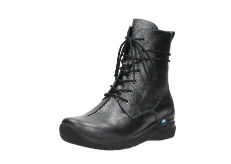 wolky lace up boots 06601 walla walla 81210 antracite metallic leather_22