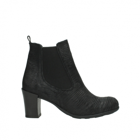 wolky ankle boots 07748 kelly 90002 black iliade leather