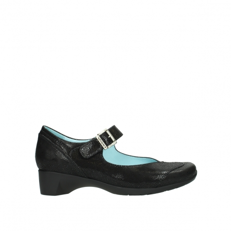 wolky court shoes 07808 opal 90070 black nubuck