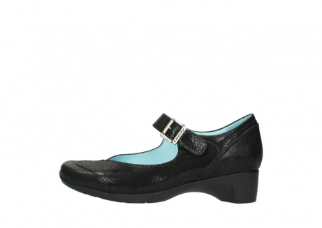 wolky court shoes 07808 opal 90070 black nubuck_1
