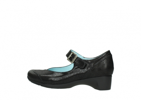 wolky court shoes 07808 opal 90070 black nubuck_2