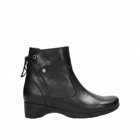 wolky ankle boots 07822 beryl 20000 black leather
