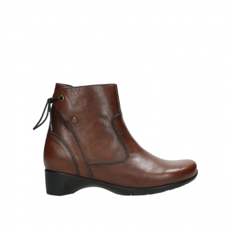 wolky ankle boots 07822 beryl 20430 cognac leather