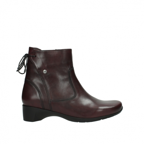 wolky ankle boots 07822 beryl 20510 bordeaux leather