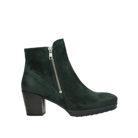 wolky ankle boots 08031 pantua 40731 forestgreen suede