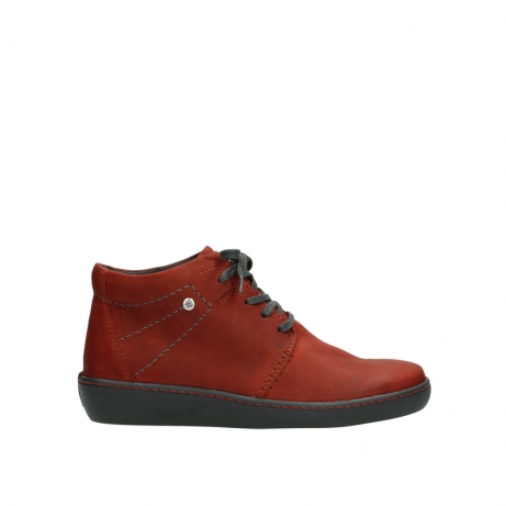 wolky chaussures a lacets 08126 babylon 50540 cuir rouge hiver